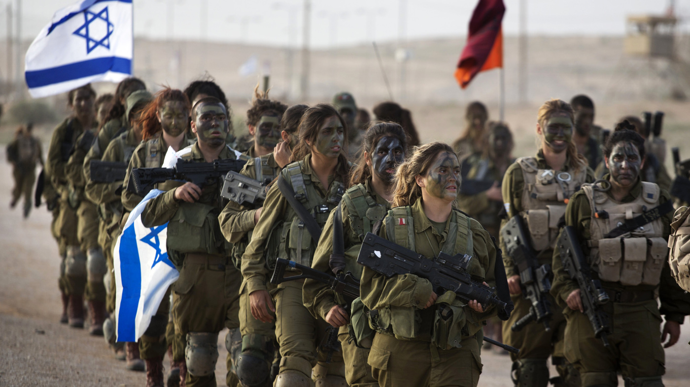 Israeli Army with paint faces