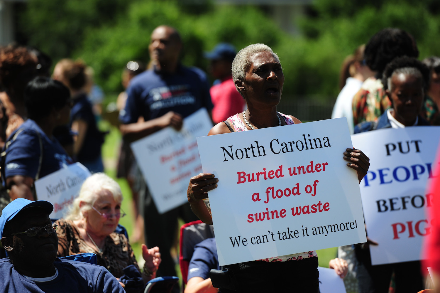 nc hog waste protest 2015 waterkeeper