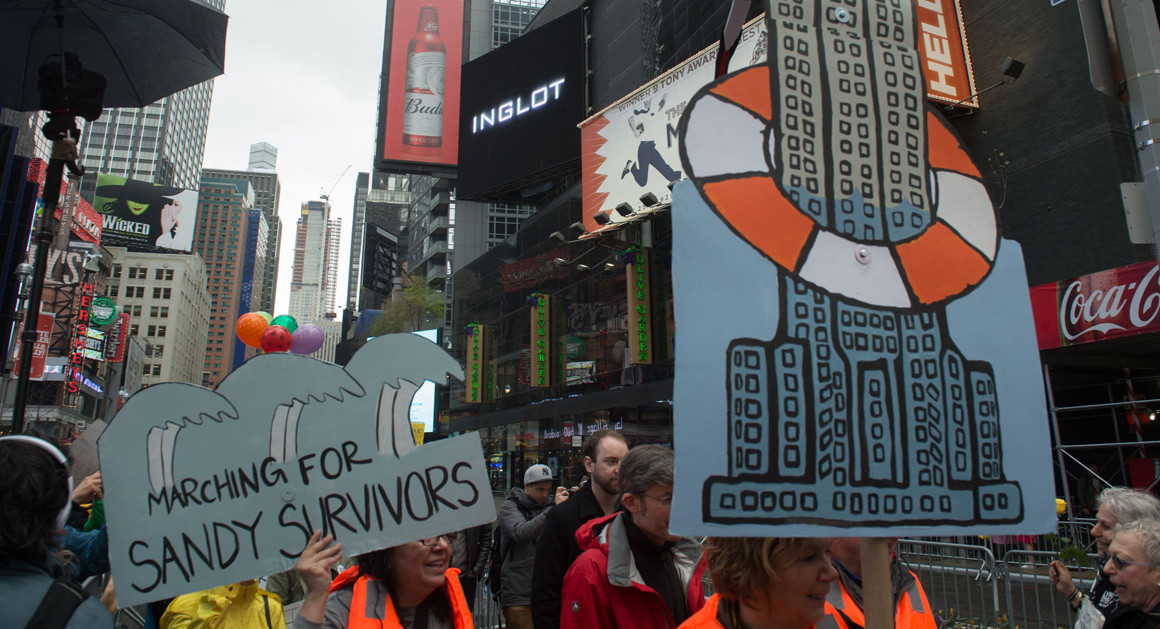 marching for sandy survivors