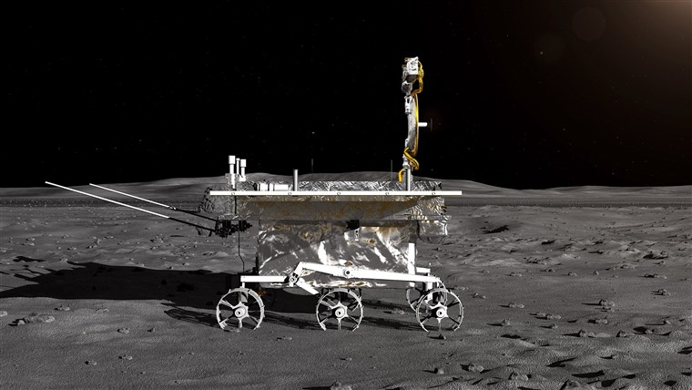China Moon Landing from side