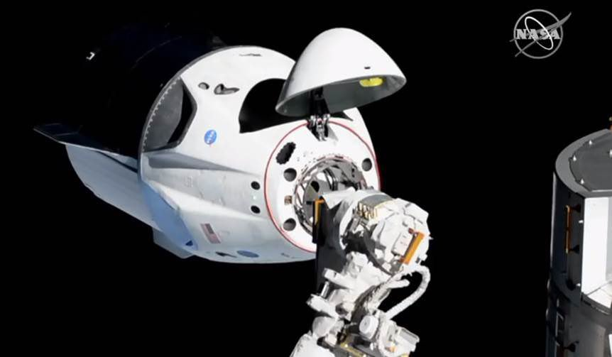 SpaceX Crew Dragon has docked with International Space Station
