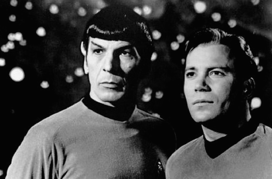 Leonard Nimoy and William Shatner Star Trek