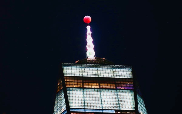 One Trade Center Lunar Eclipse