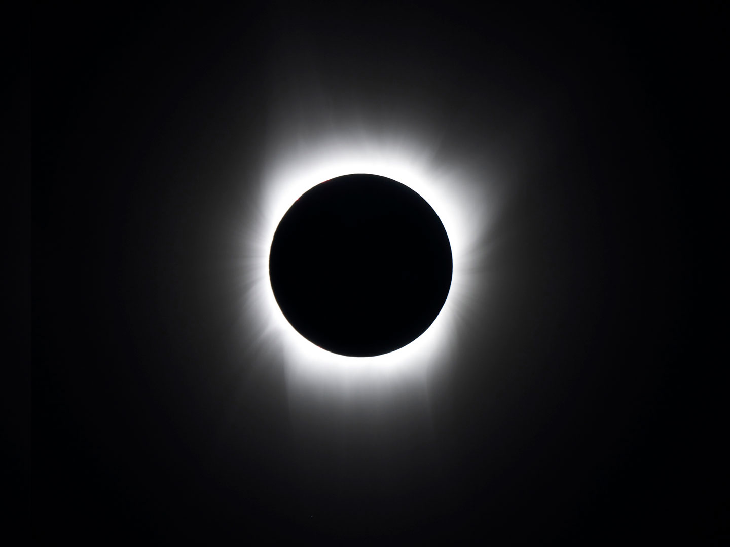Total Solar Eclipse B and W