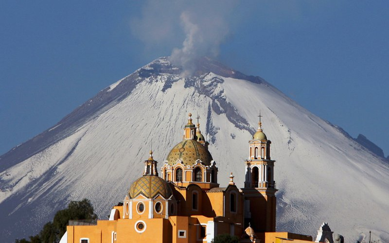 Mexico Cholula Pyramid