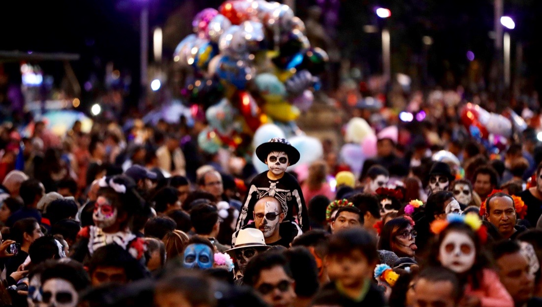 Day of Death procession