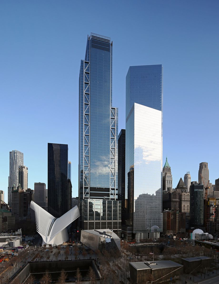 3WTC Exterior with Transit Authority Terminal