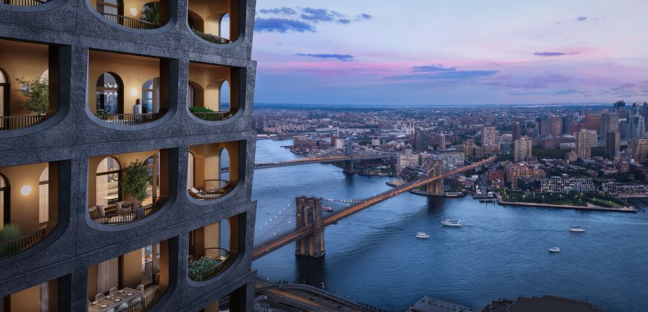 Rendering of David Adjaye Financial District Condo Tower