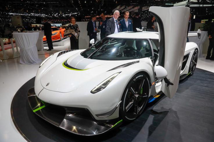 The Koenigsegg Jesko with a theoretical top speed of over 300 mph