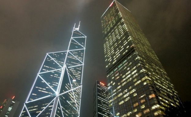 I M Peis Bank of China tower L in Hong Kong