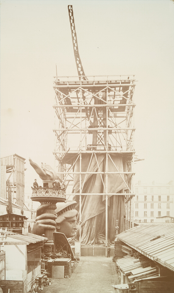 Statue of Liberty Being Assembled in Paris in 1883 1