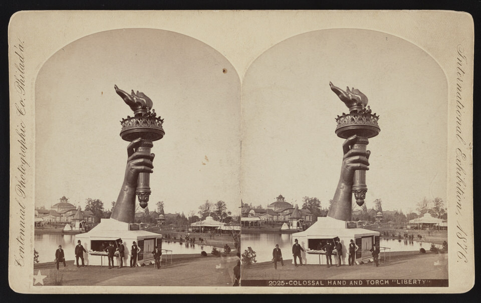 The Torch in a special centenial display in 1Philadelphia in 1876 1