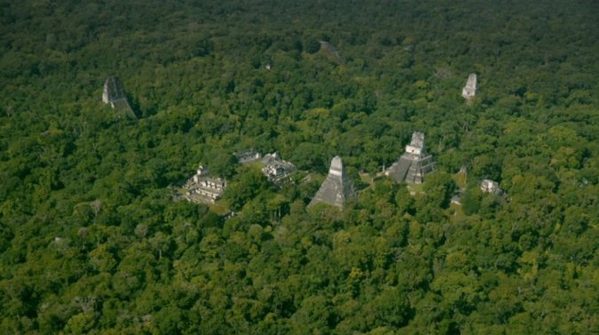Tikal City in Guatemala From Above